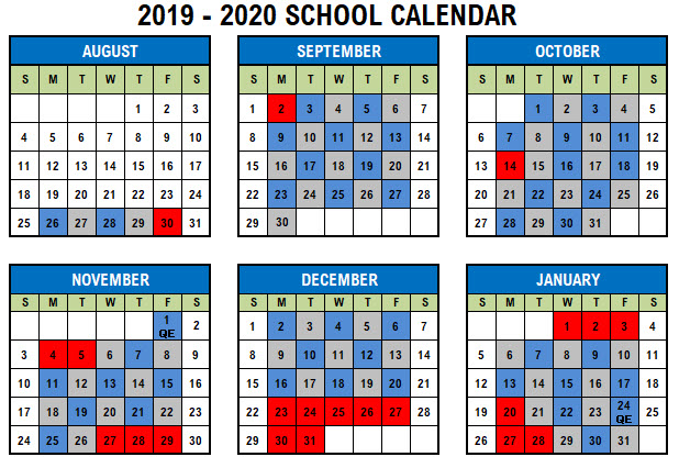 Fcps Calendar 2019.Blue Gray Day Calendar Langston Hughes Middle School